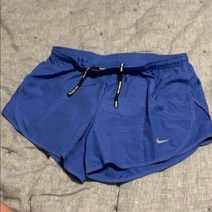 Nike Shorts - Nike Dri Fit running short blue Small like new